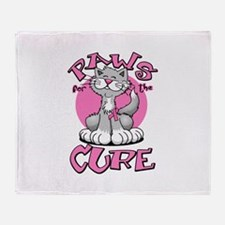 Paws for the Cure Throw Blanket