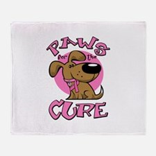 Paw for the Cure/Dog Throw Blanket