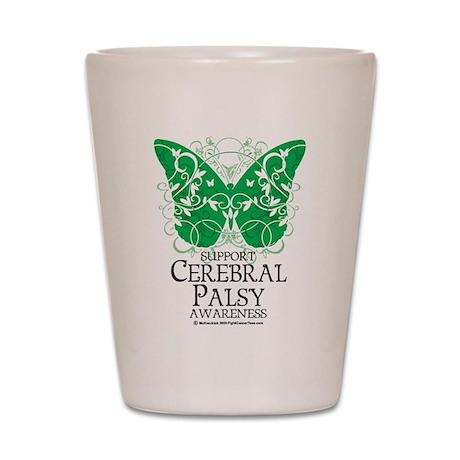 Cerebral Palsy Butterfly 2 Shot Glass
