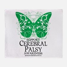 Cerebral Palsy Butterfly 2 Throw Blanket