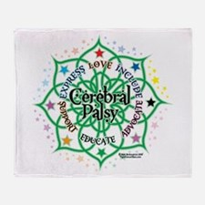 Cerebral Palsy Lotus Throw Blanket