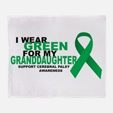 CP: Green For Granddaughter Throw Blanket