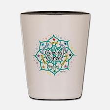Cervical Cancer Lotus Shot Glass