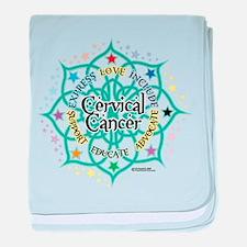 Cervical Cancer Lotus baby blanket