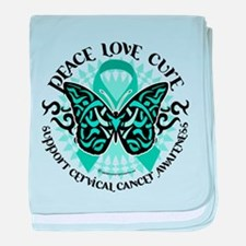 Cervical Cancer Tribal Butter baby blanket