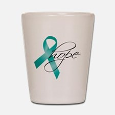 Cervical Cancer Ribbon Hope Shot Glass
