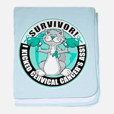 Cervical Cancer Survivor: Box baby blanket