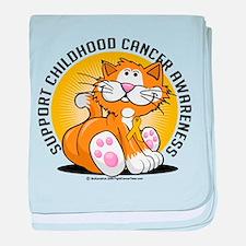 Childhood Cancer Cat baby blanket