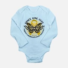 Childhood Cancer Tribal Butte Long Sleeve Infant B