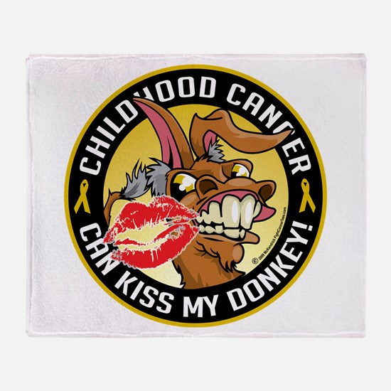 Childhood Cancer Can Kiss My Throw Blanket