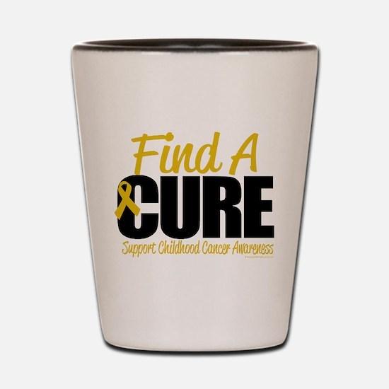 Childhood Cancer Find A Cure Shot Glass