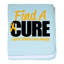 Childhood Cancer Find A Cure baby blanket