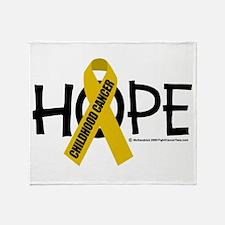 Childhood Cancer Hope Throw Blanket