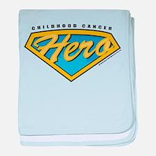 Childhood Cancer Hero baby blanket