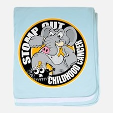 Stomp Out Childhood Cancer baby blanket