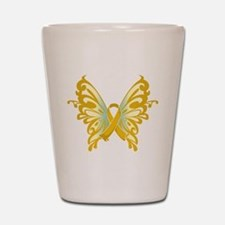Childhood Cancer Butterfly Shot Glass