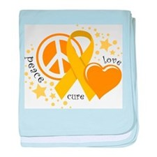 CC Peace Love Cure baby blanket