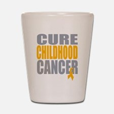 Cure Childhood Cancer Shot Glass