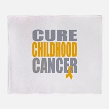 Cure Childhood Cancer Throw Blanket