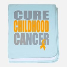 Cure Childhood Cancer baby blanket
