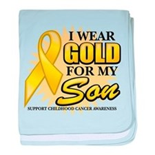 Gold For My Son 2 baby blanket