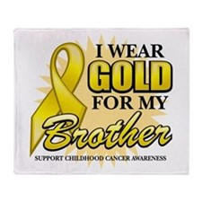 Gold For My Brother Throw Blanket