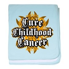 Childhood Cancer Tribal baby blanket
