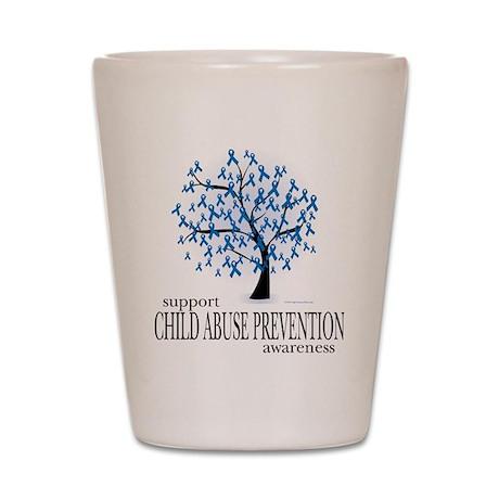 Child Abuse Tree Shot Glass