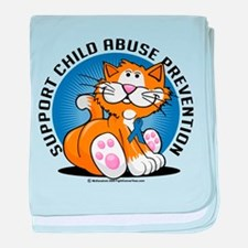 Child Abuse Prevention Cat baby blanket