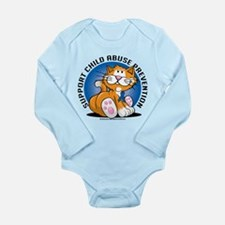 Child Abuse Prevention Cat Long Sleeve Infant Body