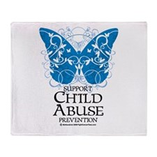 Child Abuse Butterfly Throw Blanket