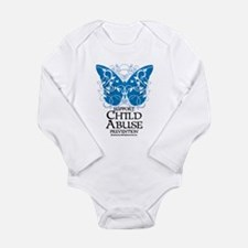 Child Abuse Butterfly Long Sleeve Infant Bodysuit