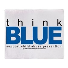 Child Abuse Think Blue Throw Blanket
