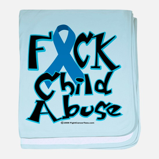 Fuck Child Abuse baby blanket