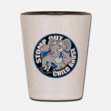 Stomp Out Child Abuse Shot Glass