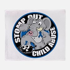 Stomp Out Child Abuse Throw Blanket