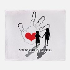 Cute Child abuse Throw Blanket