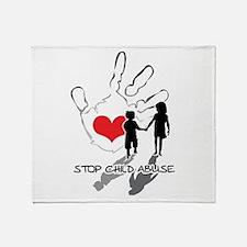 Cute Domestic violence ribbon Throw Blanket