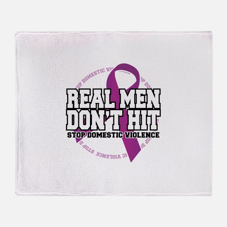 Real Men Don't Hit Throw Blanket
