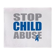 Stop Child Abuse 4 Throw Blanket