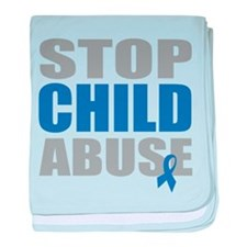 Stop Child Abuse 4 baby blanket