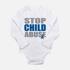Stop Child Abuse 4 Long Sleeve Infant Bodysuit