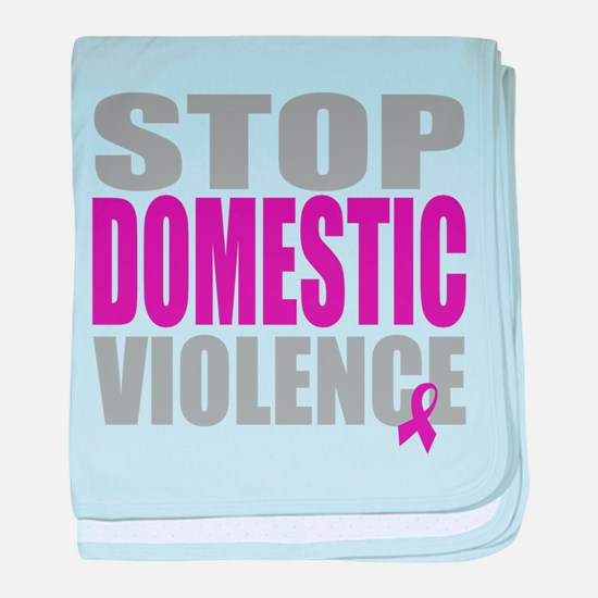 Stop Domestic Violence baby blanket
