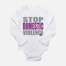 Stop Domestic Violence Long Sleeve Infant Bodysuit