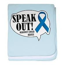Speak Out baby blanket