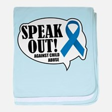 Speak Out baby blanket