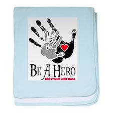 Be A Hero baby blanket