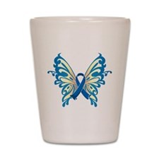 Colon Cancer Butterfly Shot Glass