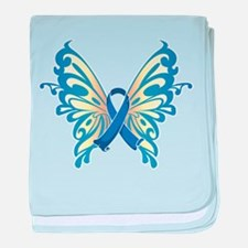Colon Cancer Butterfly baby blanket
