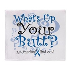 What's Up Your Butt? Throw Blanket